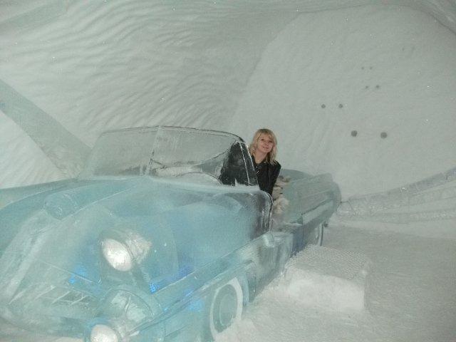 Ice Hotel Sweden Car Room