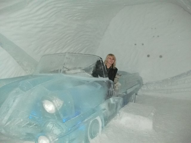 Ice Hotel Sweden Car Room