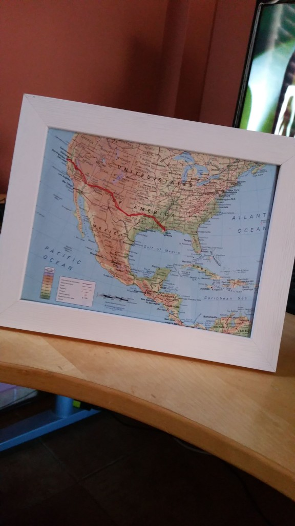DIY travel map craft ideas